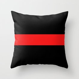Firefighter: The Thin Red Line Throw Pillow