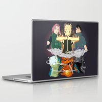 sasuke Laptop & iPad Skins featuring Team 7 On the Move by rendhy wahyu