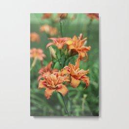 Deja Vu In Orange Metal Print