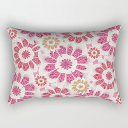 Feminine Flowers Pattern Rectangular Pillow