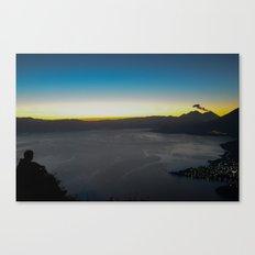 Lake Atitlan - Sunrise Canvas Print