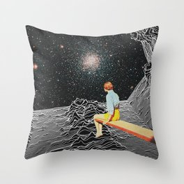 unknown pleasures to Infinity Throw Pillow