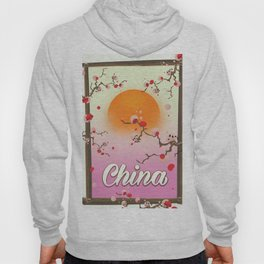 China Blossom tree sunset Hoody