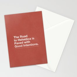 The Road to Helvetica Stationery Cards