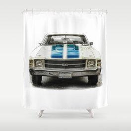 CLASSIC CAR LOVE Shower Curtain