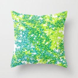 Moss (blue/green) Throw Pillow