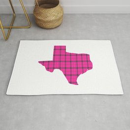 Texas State Shape: Pink Rug