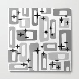 Retro Mid Century Modern Abstract Pattern 241 Metal Print