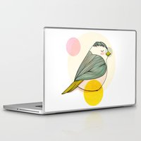 nan lawson Laptop & iPad Skins featuring Little Bird by Nan Lawson