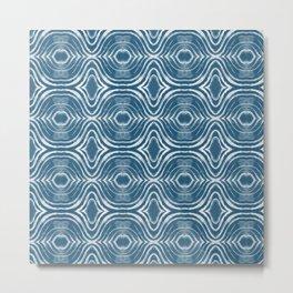 shibiori pattern Metal Print