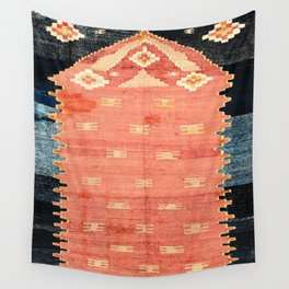 South West Anatolia  Antique Turkish Niche Kilim Print Wall Tapestry
