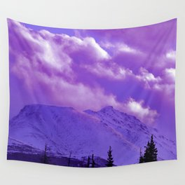 2493 Ultra_Violet Storm Over Flat_Top Wall Tapestry