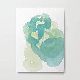 Greens of Spring, transparent, swirling, endless Metal Print