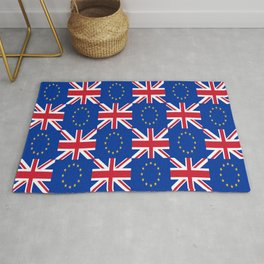 Mix of flag: UE and UK Rug