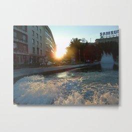 Beaming in Belgrade. Metal Print