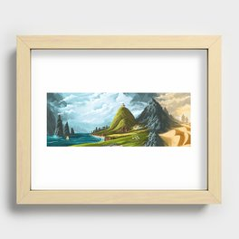An Ancient Land Recessed Framed Print