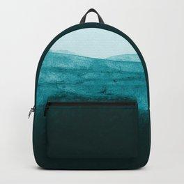 Aqua Watercolor Tide Backpack