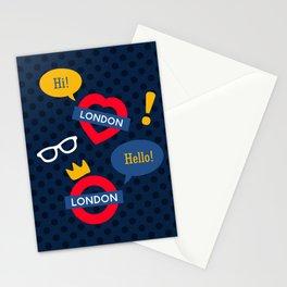 Crazy London Pattern Stationery Cards