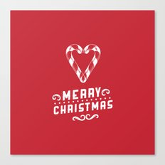 Merry Christmas - Red Canvas Print