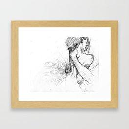 Tense  Framed Art Print