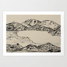 lake topeka australia Art Print