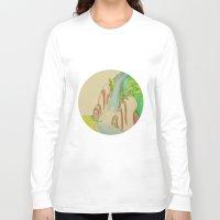 waterfall Long Sleeve T-shirts featuring Waterfall by Karly Nakashima