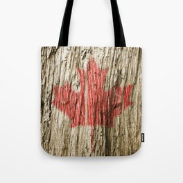 Canada on woods Tote Bag