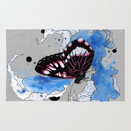 Butterfly III ink by carographic, Carolyn Mielke Rug
