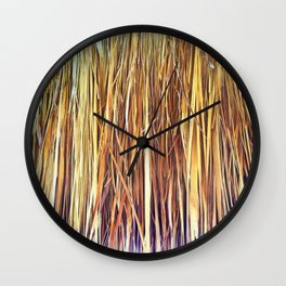 434 - Abstract grass design Wall Clock