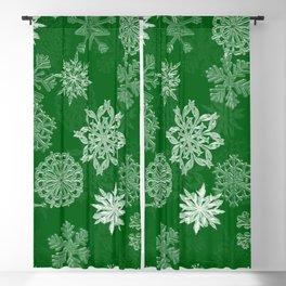 Snowflake Pattern (Green) Blackout Curtain