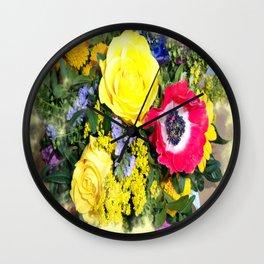 Flowerage Wall Clock