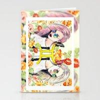 gemini Stationery Cards featuring Gemini by Sara Eshak