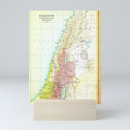 Old 1020BC Saul Palestine Map Mini Art Print