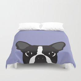 Boston Terrier Violet Duvet Cover