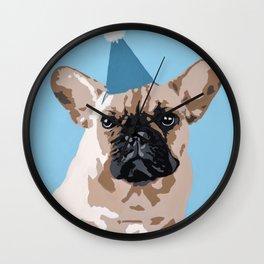 Milo in blue Wall Clock