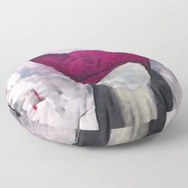 Original painting, abstract woman in pussyhat Floor Pillow