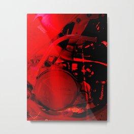 RED DIRTBIKE ENGINE Metal Print