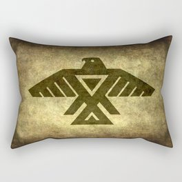 Symbol of the Anishinaabe, Ojibwe (Chippewa) on  parchment Rectangular Pillow
