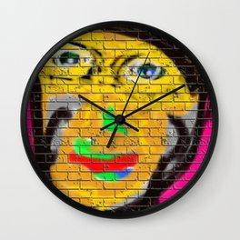 Graffiti Wall Biker Man Wall Clock