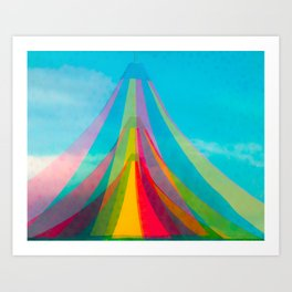 Colorfull Tents Art Print