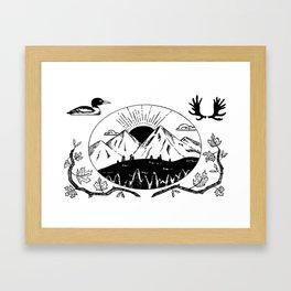 Canadian Mountain Range Framed Art Print