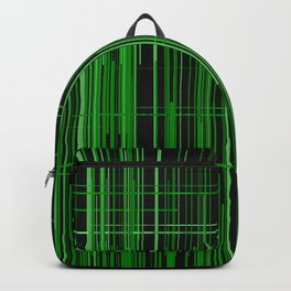 Green fantasy of green lines Backpack