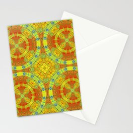 African Vintage Gold and Orange Mandala Stationery Cards