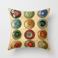 atlas Throw Pillows featuring ATLAS by d.ts
