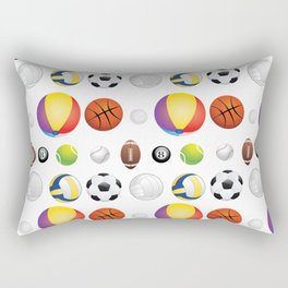 Sport Balls Rectangular Pillow