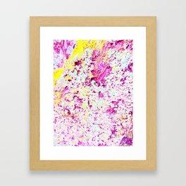 Photographic textile print  Framed Art Print