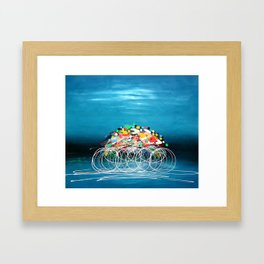 Bicycle Races Framed Art Print