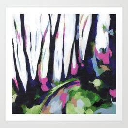Mount Davidson - Green Art Print