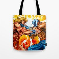 muscle Tote Bags featuring Muscle Bomber by VGPrints