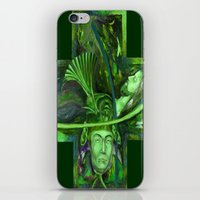 religion iPhone & iPod Skins featuring Religion green by Sarevski
